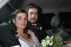 对婚礼的到达的当事人 免版税库存图片