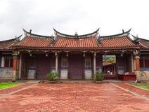对孔子寺庙的入口,繁体中文建筑学 免版税图库摄影