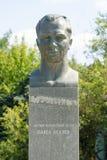 对宇航员宇航员胡同的Pavel Belyaev的纪念碑纪念碑的 免版税库存图片