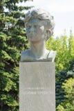 对宇航员瓦莲京娜・捷列什科娃的纪念碑宇航员胡同的纪念碑的 免版税库存照片