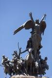 对安地斯的军队, Mendoza的纪念碑 免版税图库摄影