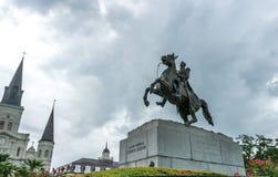 对安德鲁・约翰逊总统的纪念碑在新奥尔良,路易斯安那,美国 库存照片