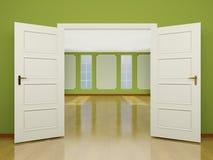 对客厅的一个大开门入口经典样式的。3 库存照片
