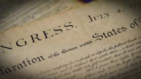 对宪法的美国权利法案序文 股票视频