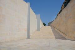 对宽石台阶的看法 免版税库存照片