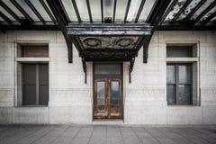 对宾夕法尼亚驻地的老入口,在巴尔的摩,马里兰 免版税库存照片