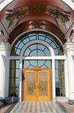 对寺庙灯塔迈拉圣尼古拉斯的入口vi的 库存图片