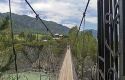 对寺庙的吊桥在拔摩岛海岛上  Chemal 库存照片