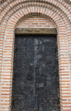 对寺庙的巨大的门 乌克兰 免版税库存图片