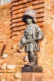 对小叛乱者的纪念碑,华沙,波兰 库存照片