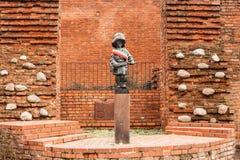 对小叛乱者的纪念碑,华沙,波兰 免版税图库摄影