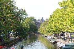 对小室Haag的看法 免版税库存图片