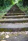 对小山的台阶 库存图片