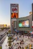 对小条,著名赌博娱乐场英里的看法在拉斯维加斯 库存照片
