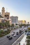 对小条,著名赌博娱乐场英里的看法在拉斯维加斯 免版税图库摄影