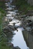 对小河的作用 免版税库存照片