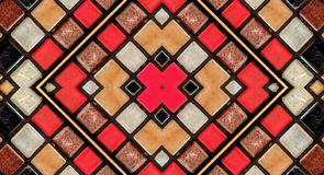 对小瓦片的镜子作用 皇族释放例证