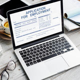 对就业工作概念的申请 免版税库存图片