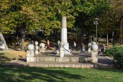 对尼亚兹米兰的纪念碑在城市Nis,塞尔维亚堡垒  库存照片