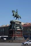 对尼古拉一世的纪念碑在圣彼德堡 免版税库存照片