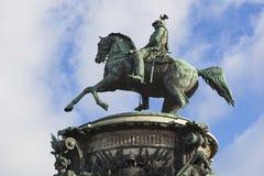 对尼古拉一世的纪念碑在圣彼德堡 库存照片