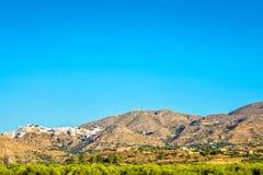对山的全景在行动 库存照片