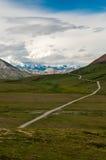 对山的足迹 免版税库存照片
