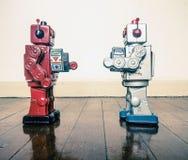 对峙机器人 免版税库存照片