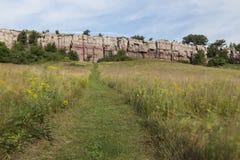 对峭壁的足迹 免版税库存图片