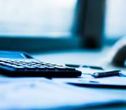 对工作场所的财务分析 库存照片