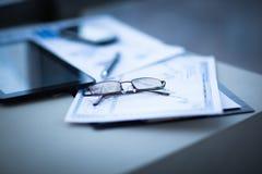 对工作场所的财务分析 图库摄影