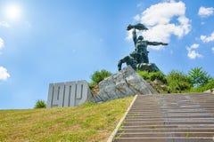 对工作者的起义的纪念碑 免版税库存照片