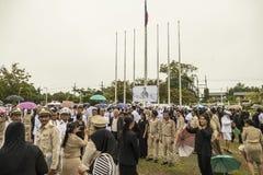 对已故的国王普密蓬・阿杜德的正式薪水尊敬 库存图片