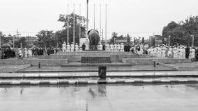 对已故的国王普密蓬・阿杜德的正式薪水尊敬 免版税图库摄影
