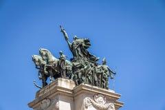 对巴西的独立的纪念碑独立公园的Parque da Independencia在Ipiranga -圣保罗,巴西 免版税库存照片