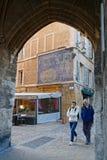 对市政厅地方的通道Aix的 图库摄影