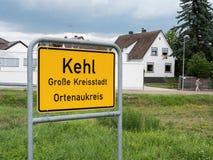 对市的入口Kehl,德国 免版税库存照片