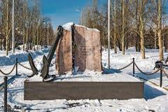对市的水手的一座纪念碑Berdsk 西伯利亚,俄国 库存图片