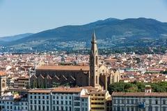 对市的看法从米开朗基罗广场的佛罗伦萨 免版税库存图片