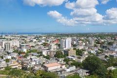 对市的看法路易港,毛里求斯 库存图片