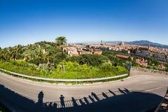 对市的看法从米开朗基罗广场的佛罗伦萨 图库摄影