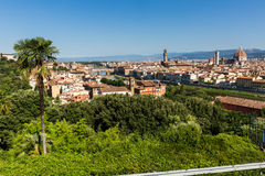 对市的看法从米开朗基罗广场的佛罗伦萨 免版税库存照片