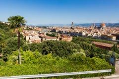 对市的看法从米开朗基罗广场的佛罗伦萨 免版税图库摄影