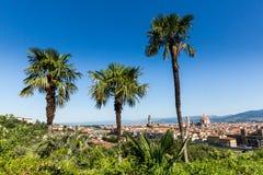 对市的看法从米开朗基罗广场的佛罗伦萨 库存图片