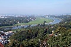 对市的视图德累斯顿 库存照片