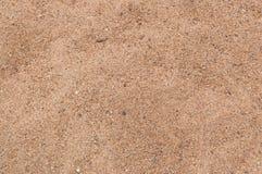 对布朗沙子的特写镜头在地面背景 免版税库存照片