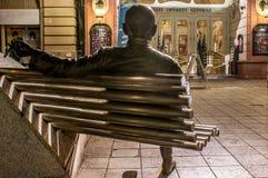 对布达佩斯小歌剧剧院的入口,匈牙利 免版税库存图片