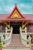 对布道大厅的楼梯在修道院里 免版税图库摄影
