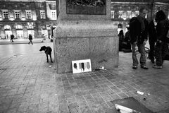 对布鲁塞尔轰炸的进贡在史特拉斯堡,法国 图库摄影