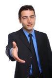 对年轻人的生意人交易愉快的准备好&# 免版税库存图片